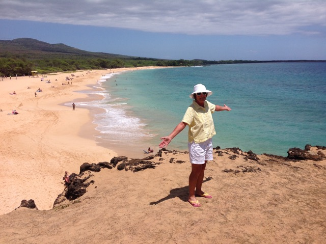 Shirley Gauthier on Little Beach in Hawaii