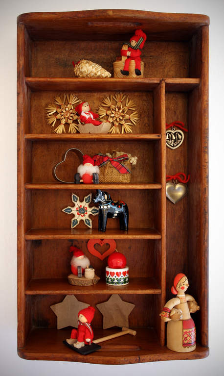 """Christmas collectibles have strong sentimental appeal for Diffendaffer. """"I know where they all came from, who gave them to me or who made them, so they all remind me of something,"""" she says."""