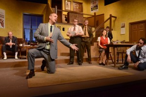"""A scene from Neil Simon's """"Laughter on the 23rd Floor"""" at Very Little Theatre."""