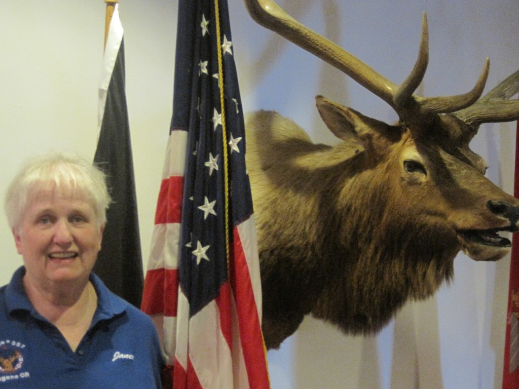 Janet Stimson is the Exalted Ruler of Eugene Elks Lodge No. 357. She was elected in April 2014 and will serve until May 31, 2015. Photo by Vanessa Salvia