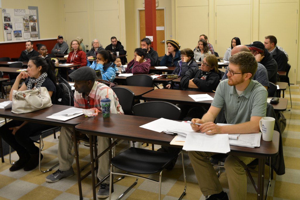 """This popular """"Threshold"""" class offered by NEDCO helps those who want to learn how to save up to buy a house. Other classes focus on financial literacy, and how to manage on a budget. Photo courtesy of NEDCO"""