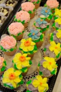 Palace Bakery's cupcake display from Chef's Night Out. Photo courtesy of FOOD for Lane County.