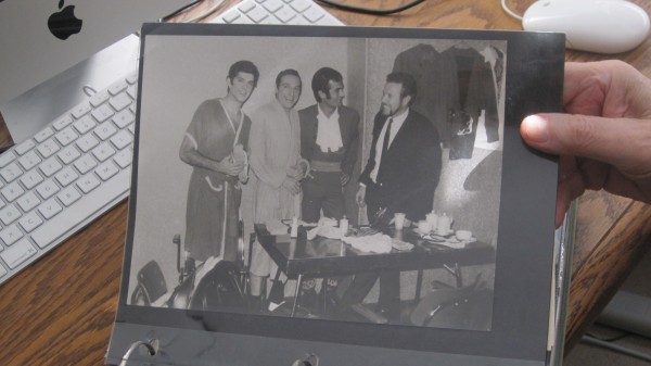 In this photo, Tony Losco, far right, stands next to entertainer Buddy Greco after one of the shows he presented in Germany. Photo by Vanessa Salvia