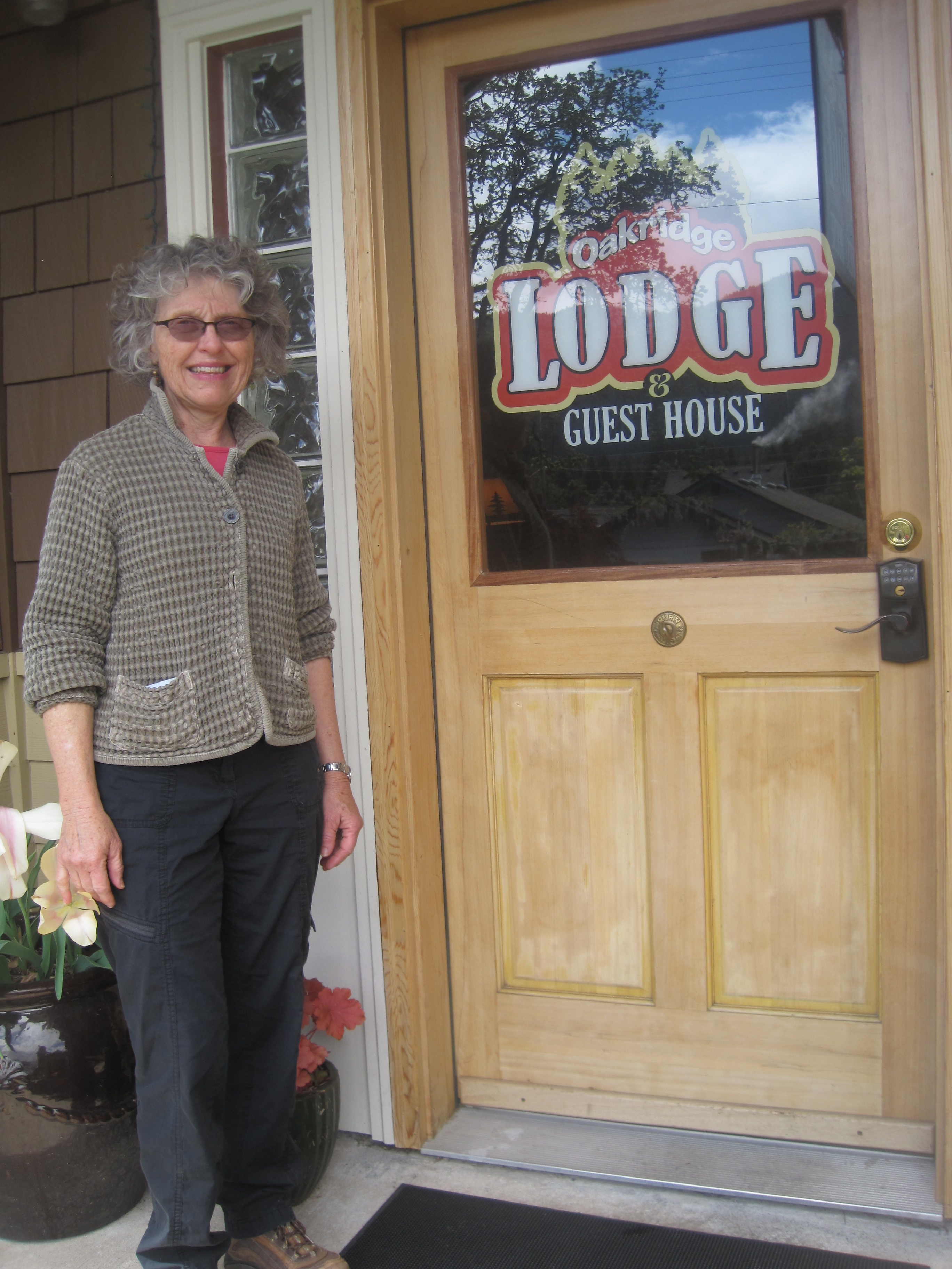Lynda Kamerrer and her husband own Oakridge Lodge and Uptown Bistro. They have been active in bringing new attractions to the city, such as a walking tour of the town's historic Uptown District.. Photo by Vanessa Salvia